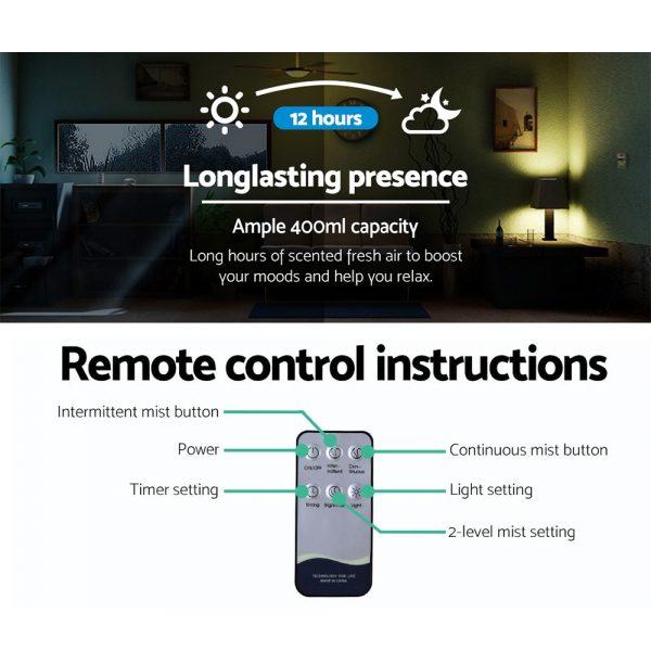 Devanti 400ml 4 in 1 Aroma Diffuser remote control