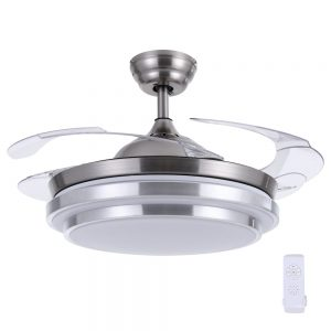 Devanti 42'' Ceiling Fan Light With Remote Control Fans Lamp Modern Retractable Blade