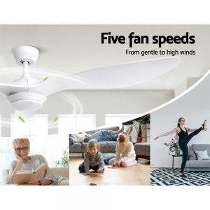 Devanti 52'' Ceiling Fan With Light Remote DC Motor 3 Blades 1300mm