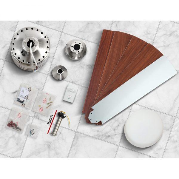 Devanti 52'' Ceiling Fan wLight Wall Control 2-sided Blades