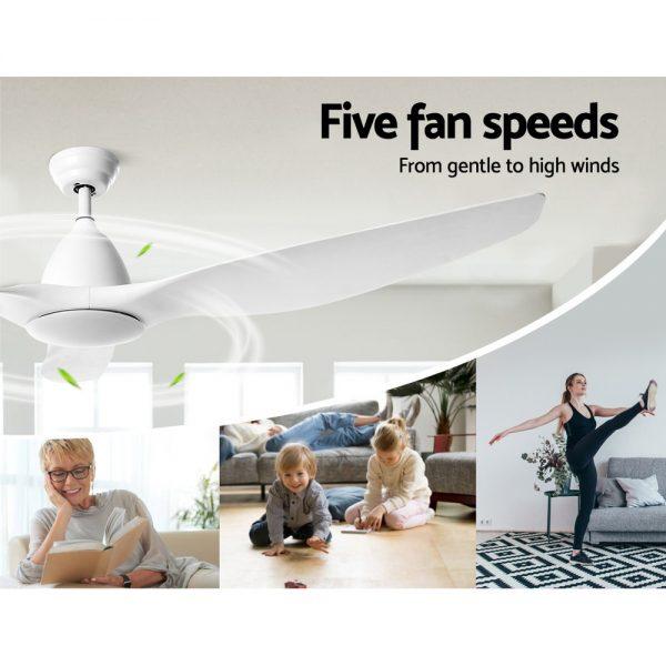 Devanti 64'' DC Motor Ceiling Fan With Light LED Remote Control Fans 3 Blades