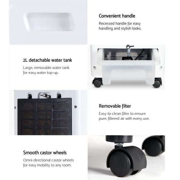 Devanti Evaporative Air Cooler - Black