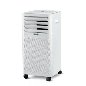 Devanti Portable Air Conditioner Cooling Mobile Fan Cooler Dehumidifier White 2000W