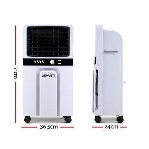 Devanti Portable Evaporative Air Cooler Cooling Fan Humidifier Conditioner Fans