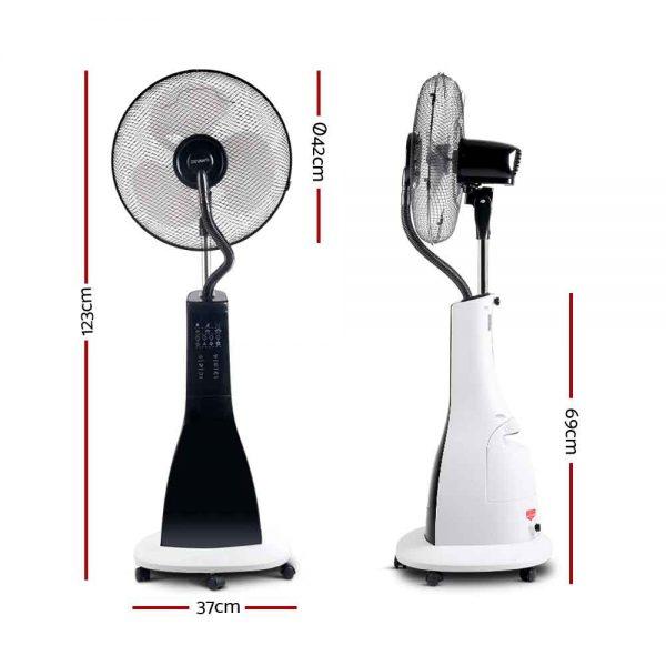 Devanti Portable Misting Fan with Remote Control - White
