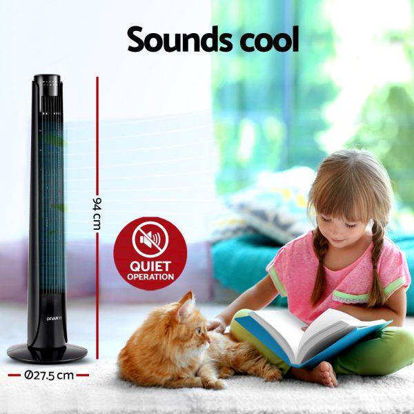 Devanti Portable Tower Fan - Black