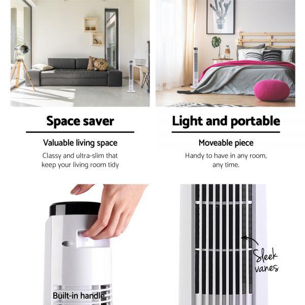 Devanti Portable Tower Fan - White