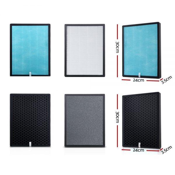 Devanti Replacement Filter Air Purifier HEPA Filters Carbon Layer