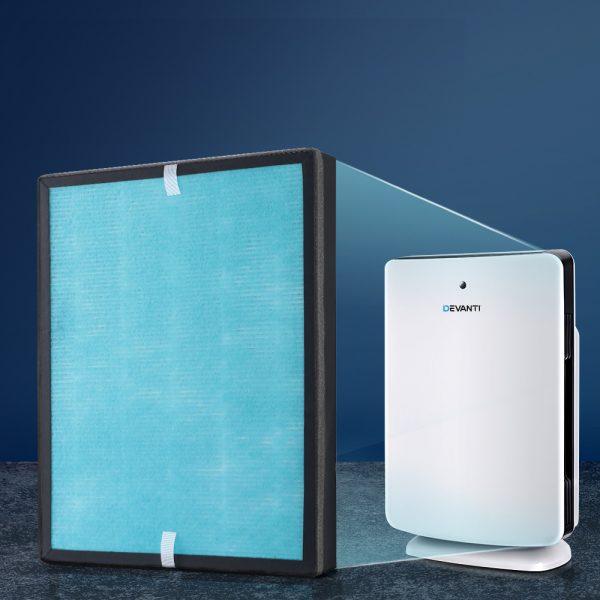 Devanti Replacement Filter Air Purifier True HEPA Filters Carbon Layer