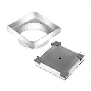 115x115mm Stainless Steel Shower Grate Tile Insert Drain Square Bathroom