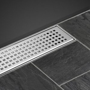 800mm Stainless Steel Shower Grate Tile Drain Square Bathroom Home (1)