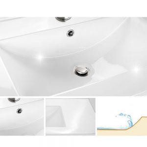 Cefito 900mm Bathroom Vanity Cabinet Unit Wash Basin Sink Storage Freestanding White