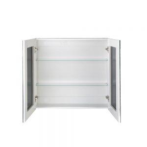 Cefito Bathroom Vanity Mirror with Storage Cavinet - White