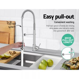 Cefito Kitchen Tap Mixer Faucet Taps Pull Out Laundry Bath Sink Brass Watermark