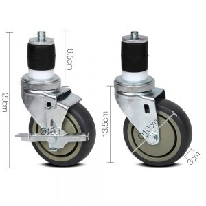Cefito Set of 4 Swivel Castor Wheels
