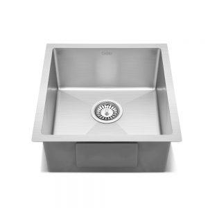 Cefito Stainless Steel Kitchen Sink 440X450MM Nano Under Topmount Sinks Laundry Silver