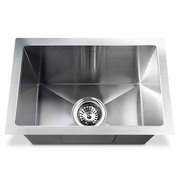 Cefito Stainless Steel Kitchen Sink 450X300MM Under Topmount Sinks Laundry Bowl Silver