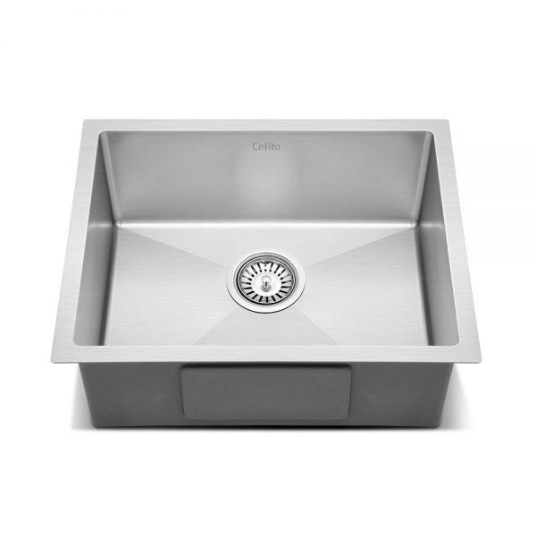 Cefito Stainless Steel Kitchen Sink 540X440MM Nano Under Topmount Sinks Laundry Silver