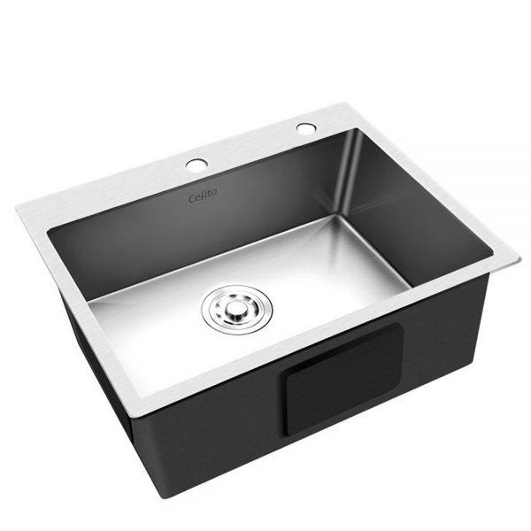 Cefito Stainless Steel Kitchen Sink 550X450MM Under Topmount Sinks Laundry Bowl Silver