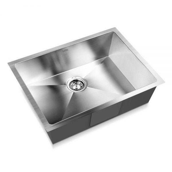 Cefito Stainless Steel Kitchen Sink 600X450MM Under Topmount Sinks Laundry Bowl Silver