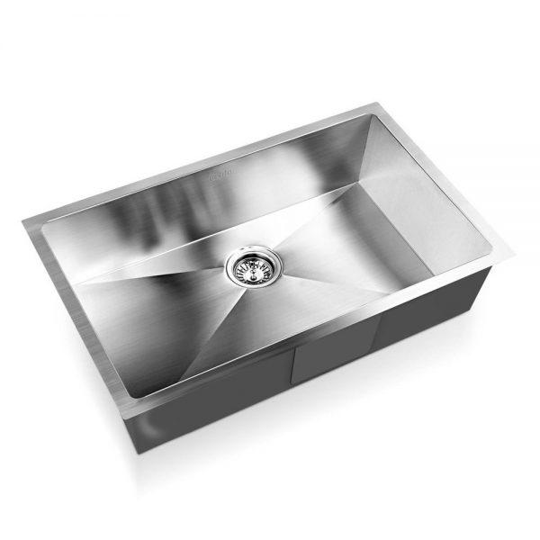 Cefito Stainless Steel Kitchen Sink 700X450MM Under Topmount Sinks Laundry Bowl Silver
