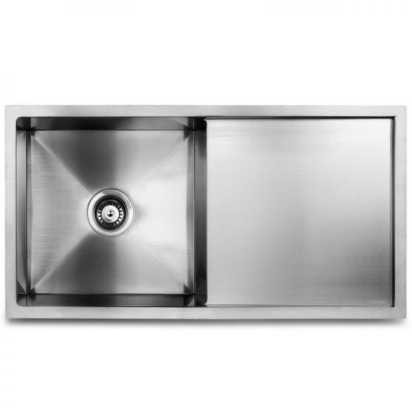 Cefito Stainless Steel Kitchen Sink 870X450MM Under Topmount Sinks Laundry Bowl Silver