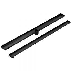 Cefito Stainless Steel Shower Grate Tile Insert Bathroom Floor Drain Liner 900MM Black