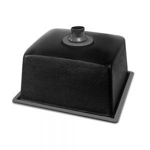 Cefito Stone Kitchen Sink 460X410MM Granite Under Topmount Basin Bowl Laundry Black