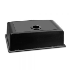 Cefito Stone Kitchen Sink 790X450MM Granite Under Topmount Basin Bowl Laundry Black