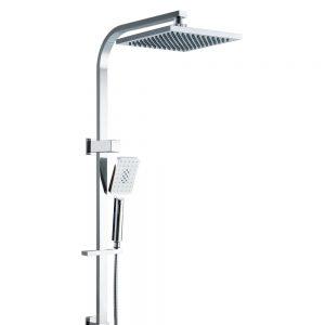 Cefito WELS 8'' Rain Shower Head Set Square Handheld High Pressure Wall Chrome