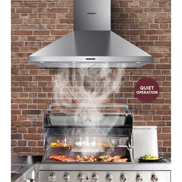 Devanti 1200mm Commercial BBQ Rangehood - Silver