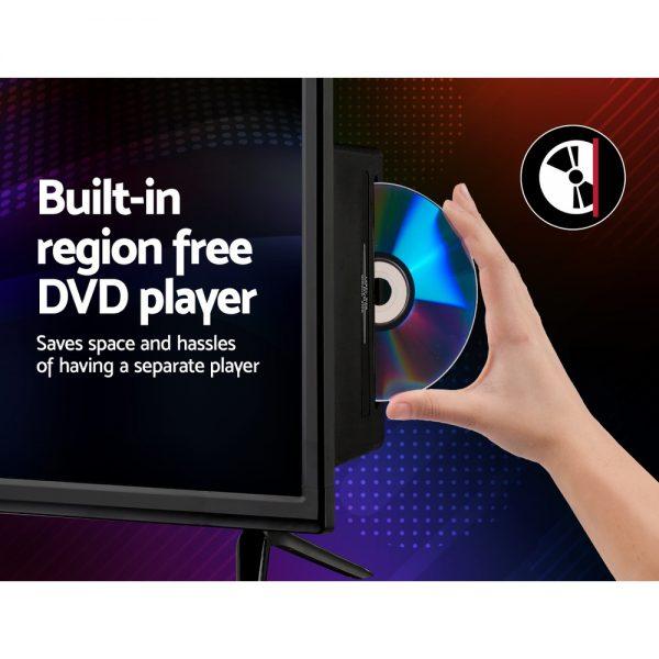 Devanti 24 Inch LED TV Combo Built-In DVD Player DC 12V Caravan Boat USB