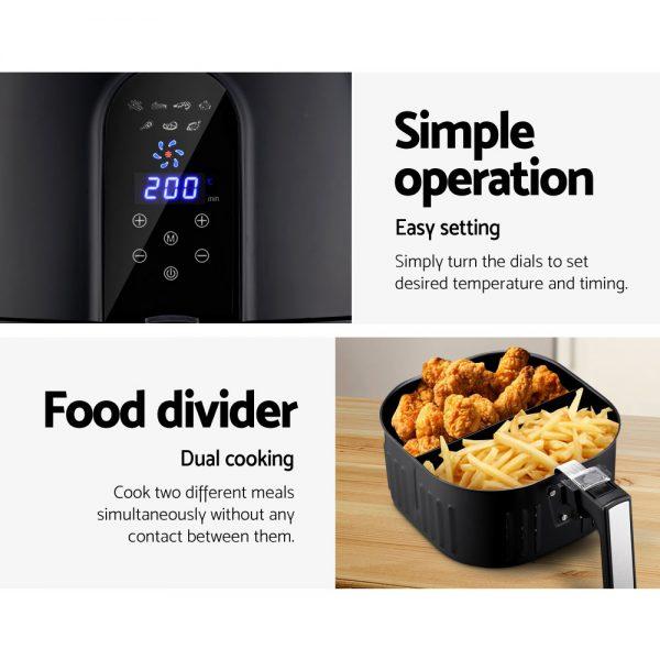 Devanti 7L Oil Free Air Fryer - Black