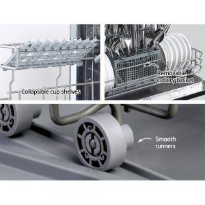 Devanti Benchtop Dishwasher 6 Place Setting Counter Bench Top Dish Washer Black