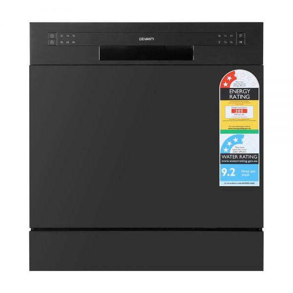Devanti Benchtop Dishwasher Counter Bench Top Freestanding Dish Washer 8 Place
