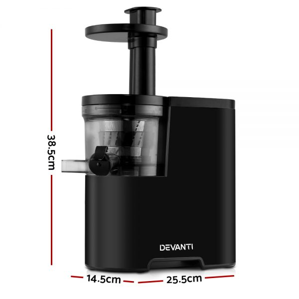 Devanti Cold Press Slow Juicer Black