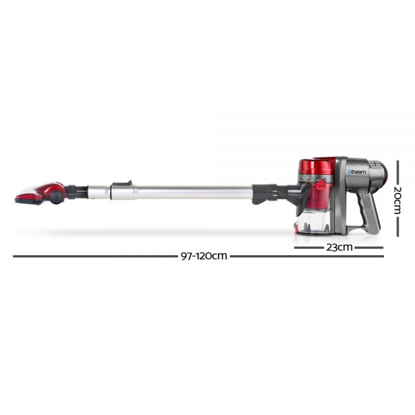 Devanti Corded Handheld Bagless Vacuum Cleaner - Red and Silver