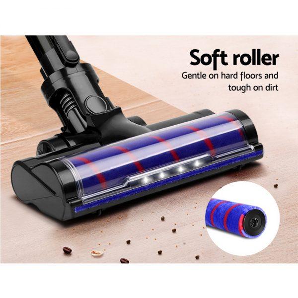 Devanti Cordless 150W Handstick Vacuum Cleaner - Purple and Grey