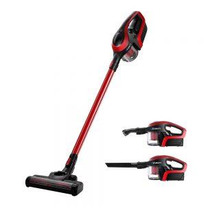 Devanti Cordless Stick Vacuum Cleaner - Black and Red