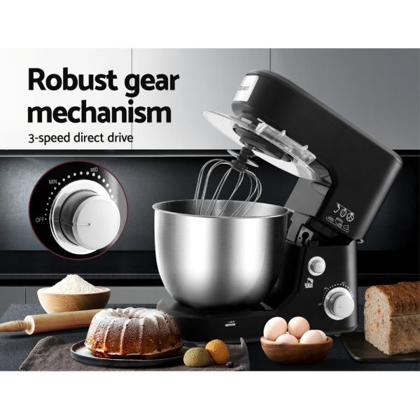 Devanti Electric Stand Mixer 1000W Kitchen Food Beater Cake Aid Whisk Bowl Hook