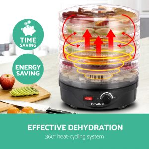 Devanti Food Dehydrator with 7 Trays - Black