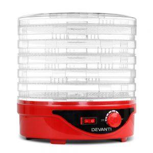 Devanti Food Dehydrator with 7 Trays - Red