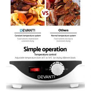 Devanti Food Dehydrator with 7 Trays - White