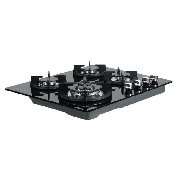 Devanti Gas Cooktop 60cm 4 Burner Ceramic Glass Cook Top Stove Hob Cooker LPG NG Black