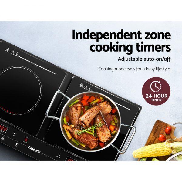 Devanti Induction Cooktop Portable Cooker Ceramic Cook Top Electric Hob Kitchen