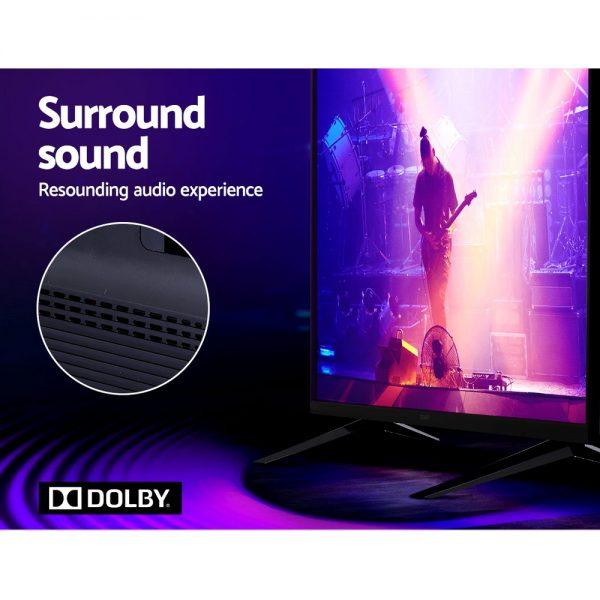 Devanti Smart LED TV 55 Inch 4K UHD HDR LCD Slim Thin Screen Netflix