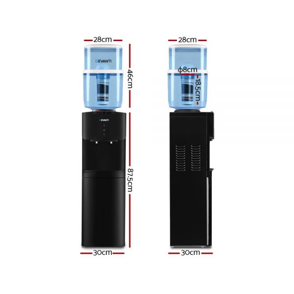 Devanti Water Cooler Chiller Dispenser Bottle Stand Filter Purifier Office Black