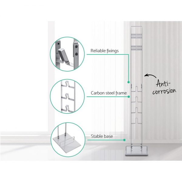 Freestanding Dyson Vacuum Stand Rack Holder Cordless Handheld Cleaner V6 7 8 V10 V11 Silver